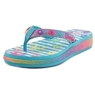 Twinkle Toes By Skechers Beach Life Youth W Open Toe Multi Color Thong Sandal