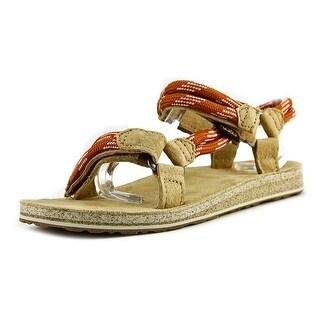 Teva Original Universal Rope Women Open-Toe Canvas Tan Sport Sandal