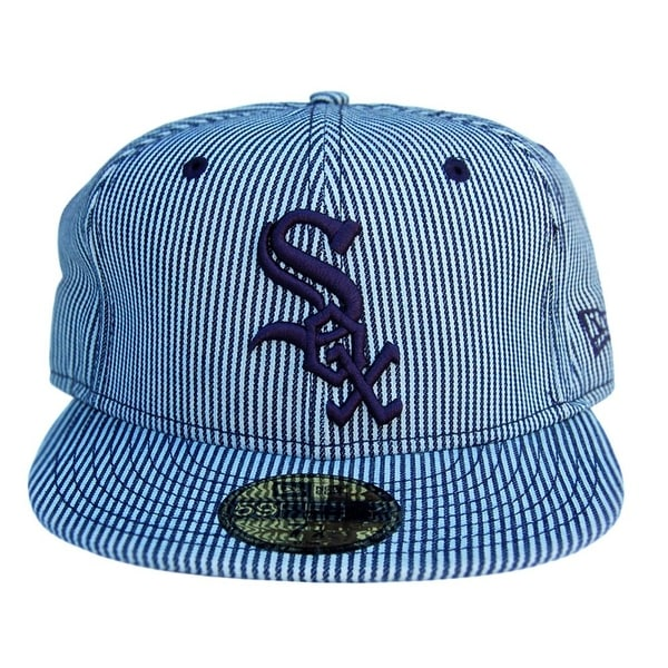 ... coupon code mlb chicago white sox new era 59fifty black striated fitted  hat striped 7 1 987f45b7f56b