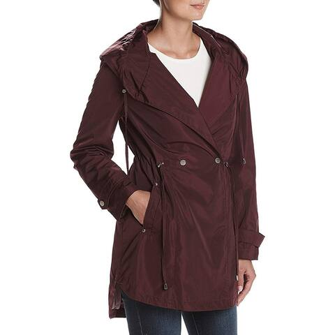 French Connection Femme Hooded Parka, Burgundy, XL