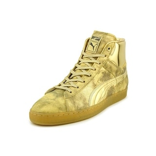 Puma X Meek MIll 24k Men Round Toe Leather Gold Sneakers
