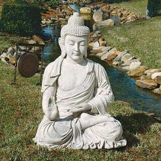 Design Toscano Noble Buddha of the Grande Temple: Sandstone, Giant