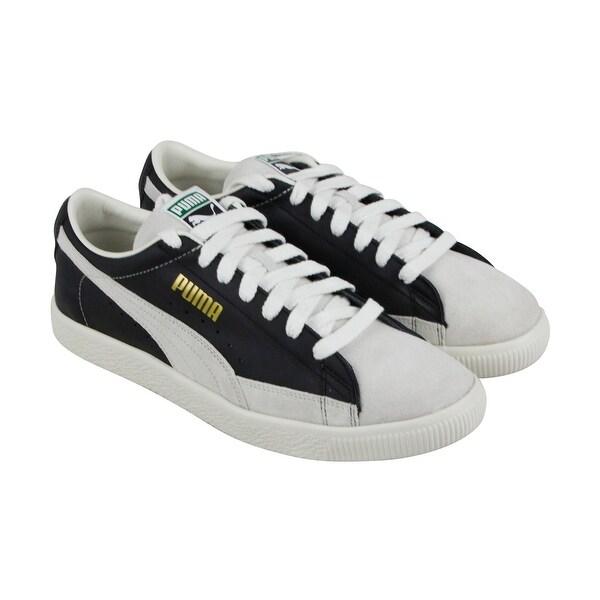 13d825c556cf Shop Puma Basket 90680 Mens Black Leather Lace Up Sneakers Shoes ...