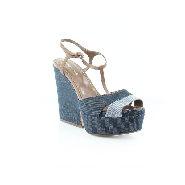 Sergio Rossi Edwidge Women's Sandals & Flip Flops denim blue/jeans+baobab - 9.5