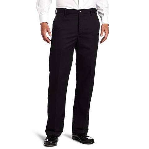 IZOD Navy Blue Mens Size 42x32 Khakis Flat-Front Straight-Fit Pants