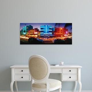 Easy Art Prints Panoramic Images's 'USA, Florida, Miami Beach' Premium Canvas Art