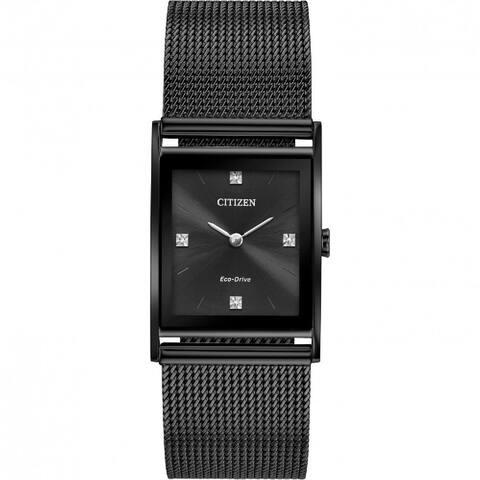 Citizen Men's BL6008-53E 'Axiom' Black Stainless Steel Mesh Watch