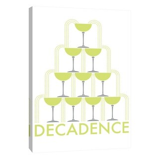 """PTM Images 9-105200  PTM Canvas Collection 10"""" x 8"""" - """"Decadence 1"""" Giclee Liquor & Cocktails Art Print on Canvas"""