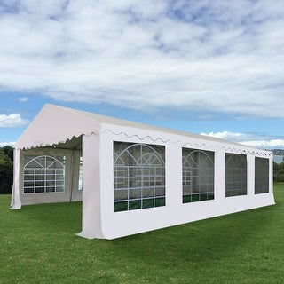 Costway 16 2/5'X26' Wedding Tent Shelter Heavy Duty Outdoor Party Canopy Carport White