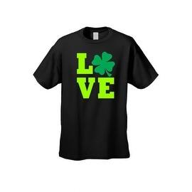 Men's T-Shirt Irish Lucky Leaf Plush Love Ireland St. Patrick's Day Alcohol Drink Beer