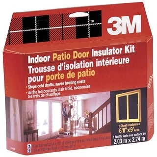 3M 2144W6 84'x112' Indoor Window Kit Shrink Patio Door Film (2144W)