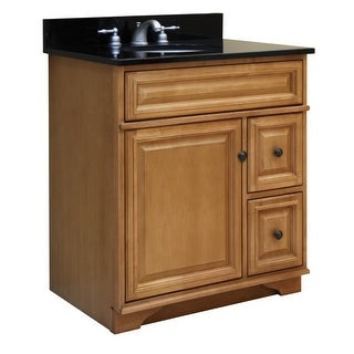 """Sunny Wood BW3021D Briarwood 30"""" Maple Wood Vanity Cabinet Only with 2 Drawers"""