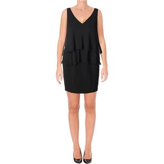Lauren Ralph Lauren Womens Petites Cocktail Dress Georgette Tiered