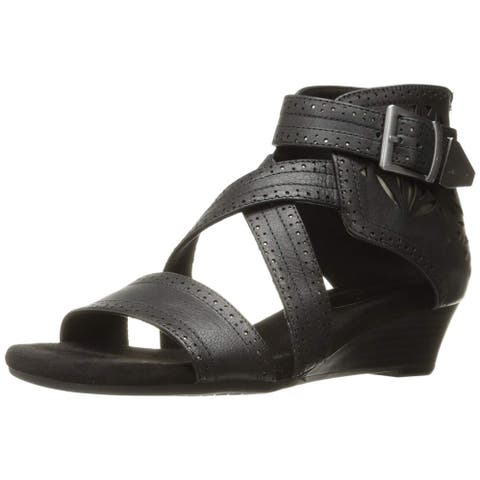 Aerosoles Womens Yetliner Leather Open Toe Casual Platform Sandals
