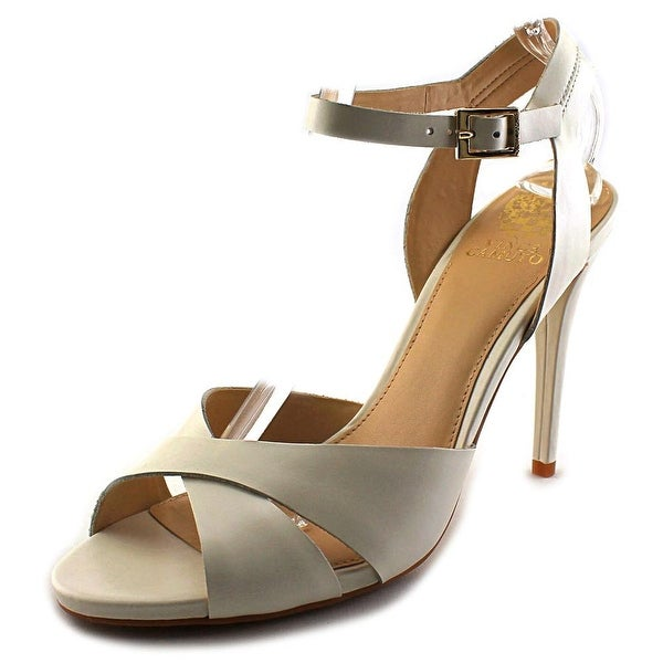 Vince Camuto Soliss Open-Toe Leather Heels