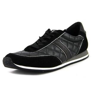 Michael Michael Kors Charlie Quilted Trainer Women  Suede Black Sneakers