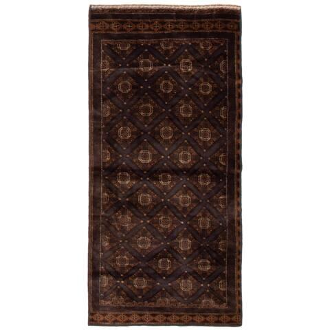 ECARPETGALLERY Hand-knotted Teimani Dark Grey Wool Rug - 2'8 x 5'10