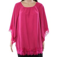 Context Fuchsia Women's Small Floral Lace Blouse