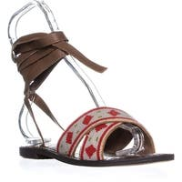 Sam Edelman Luisa Lace Up Sandals, Saddle/ White Bead - 7.5 us / 37.5 eu
