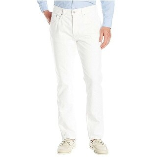 Nautica Mens Tapered-Leg Jeans White Classic 5-Pocket Styling