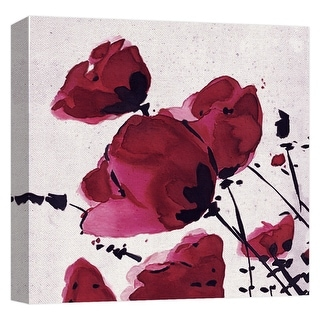 "PTM Images 9-124764  PTM Canvas Collection 12"" x 12"" - ""Watercolor Rose III"" Giclee Roses Art Print on Canvas"
