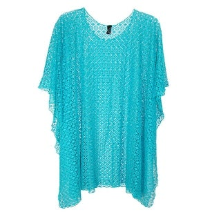 CTM® Women's Lightweight Mesh Over the Head Easy Style Poncho - One Size
