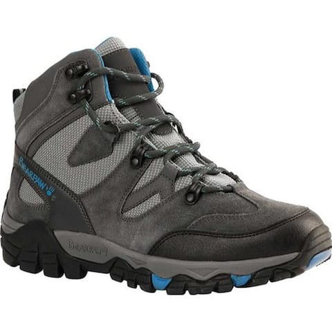Bearpaw Women's Corsica Solids Waterproof Hiking Boot Charcoal Suede/Nylon