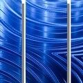 Statements2000 Blue Abstract Modern Metal Wall Art Panels by Jon Allen - Blue Synchronicity - Thumbnail 4