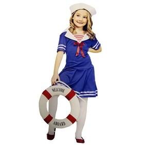 Tween Sailor Costume - Sea Sweetie Girls Outfit