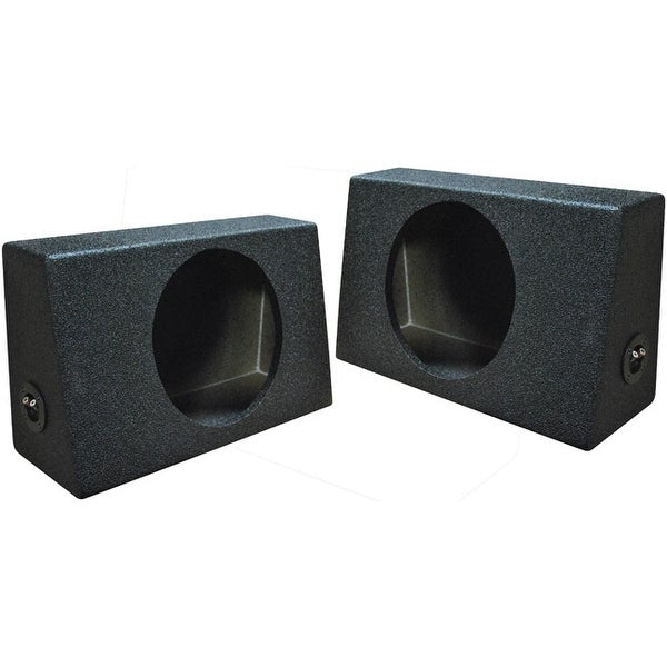 "Qpower QBOMB Single 10"" Empty Woofer Box. Mounts behind seat. Sold in pairs"