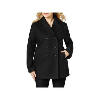 Kenneth Cole Reaction Womens Plus Pea Coat Fall Wool Blend - 2x