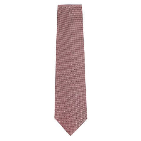 Tom Ford Mens Red White Woven 100% Silk Textured Patterned Classic Tie~RTL$275 - One Size