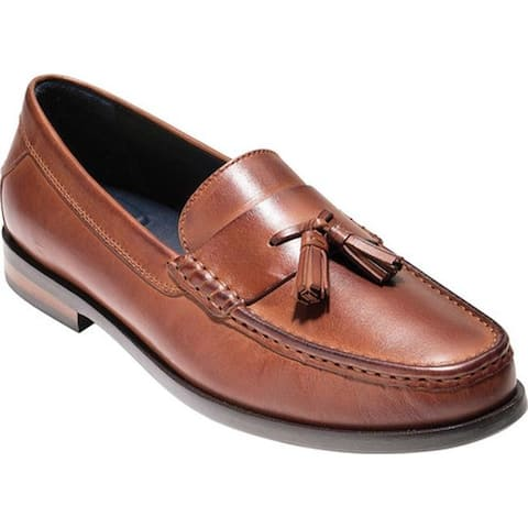 245a1c56e1 Cole Haan Men s Pinch Friday Tassel Contemporary Loafer Woodbury Handstain  Leather