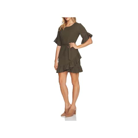 1.State Womens Mini Dress Asymmetrical Ruffled