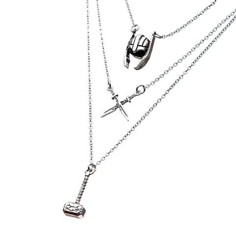 Marvel Thor: Ragnarok Tiered Stainless Steel Necklace: Thor