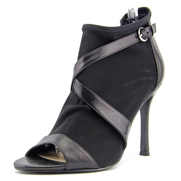 Nine West Frenchie Women Peep-Toe Synthetic Black Heels