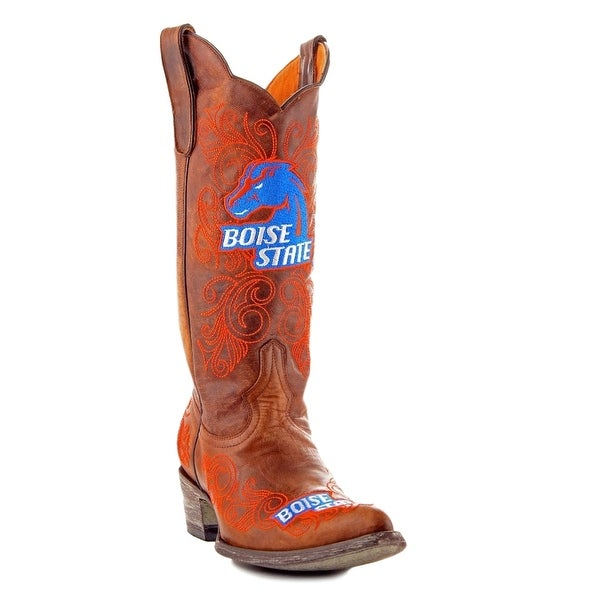 Gameday Boots Womens College Team Boise State Broncos Brass