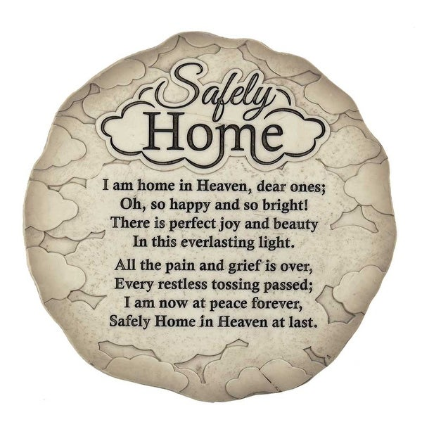 "9.5"" Gray and Black Garden Stepping Stone Shaped Plaque - N/A"