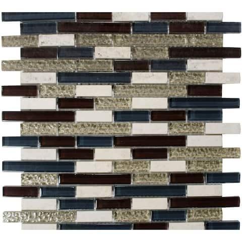 "The Tile Life Victory Brick 1"" x 2"" Glass Mosaic Tile"