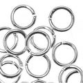 Silver Plated Open Jump Rings 5mm 19 Gauge (50) - Thumbnail 0