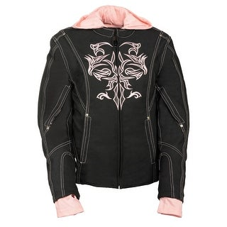 Womens 3/4 Length Textile Jacket Reflective Tribal Detail