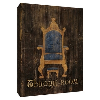 """PTM Images 9-154429  PTM Canvas Collection 10"""" x 8"""" - """"Regal Throne"""" Giclee Text and Symbols Textual Art Print on Canvas"""