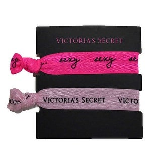 Victoria's Secret Elastic Hair Tie Band Light Pink Sexy Fuchsia 2 Pack