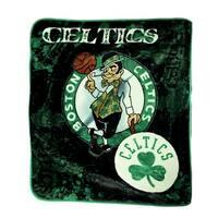 Boston Celtics Plush Raschel Throw Blanket 50 X 60 Inch - Green