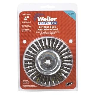 """Weiler 36021 Vortec-Pro Stringer Bead Knob Wire Wheel, 4"""""""