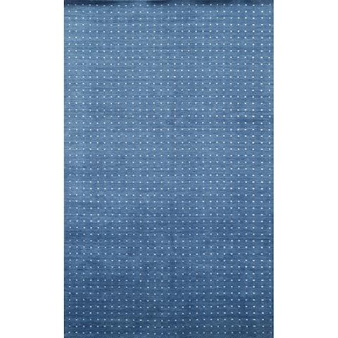 "Polka Dot Modern Gabbeh Oriental Area Rug Hand-knotted Wool Carpet - 5'2"" x 8'1"""