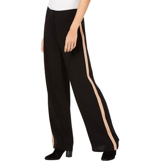 Link to Eileen Fisher Womens Side Stripe Casual Wide Leg Pants Similar Items in Pants