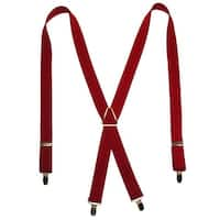 CTM® Men's Elastic X-Back Suspenders with Brass Hardware