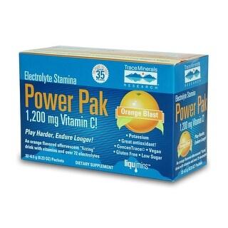 Electrolyte Stamina Power Pak Orange Blast Trace Minerals 7.4g 32 Packet