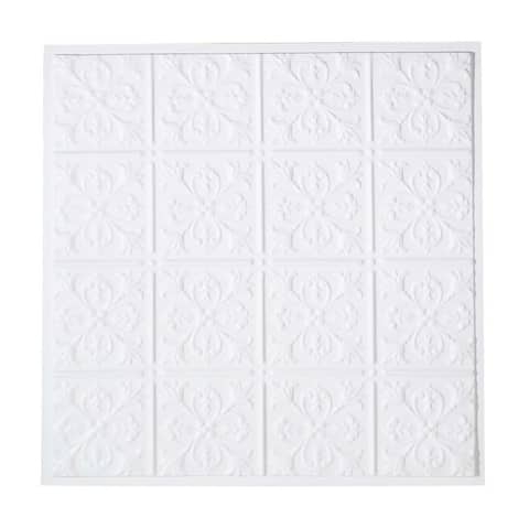 Ceiling Tiles White Polymer 23 3/4 sq